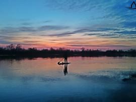 Plaukiojimas irklentėmis Nemuno Deltoje