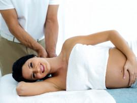 Nėščiųjų nugaros ir kojų masažas